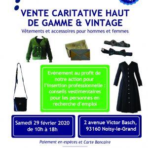 Vente caritative Haut de gamme et vintage