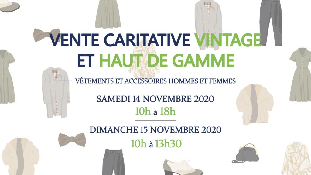 Vente caritative vintage et haut de gamme 11-12-13 décembre 2020